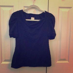 Navy short sleeve sweater